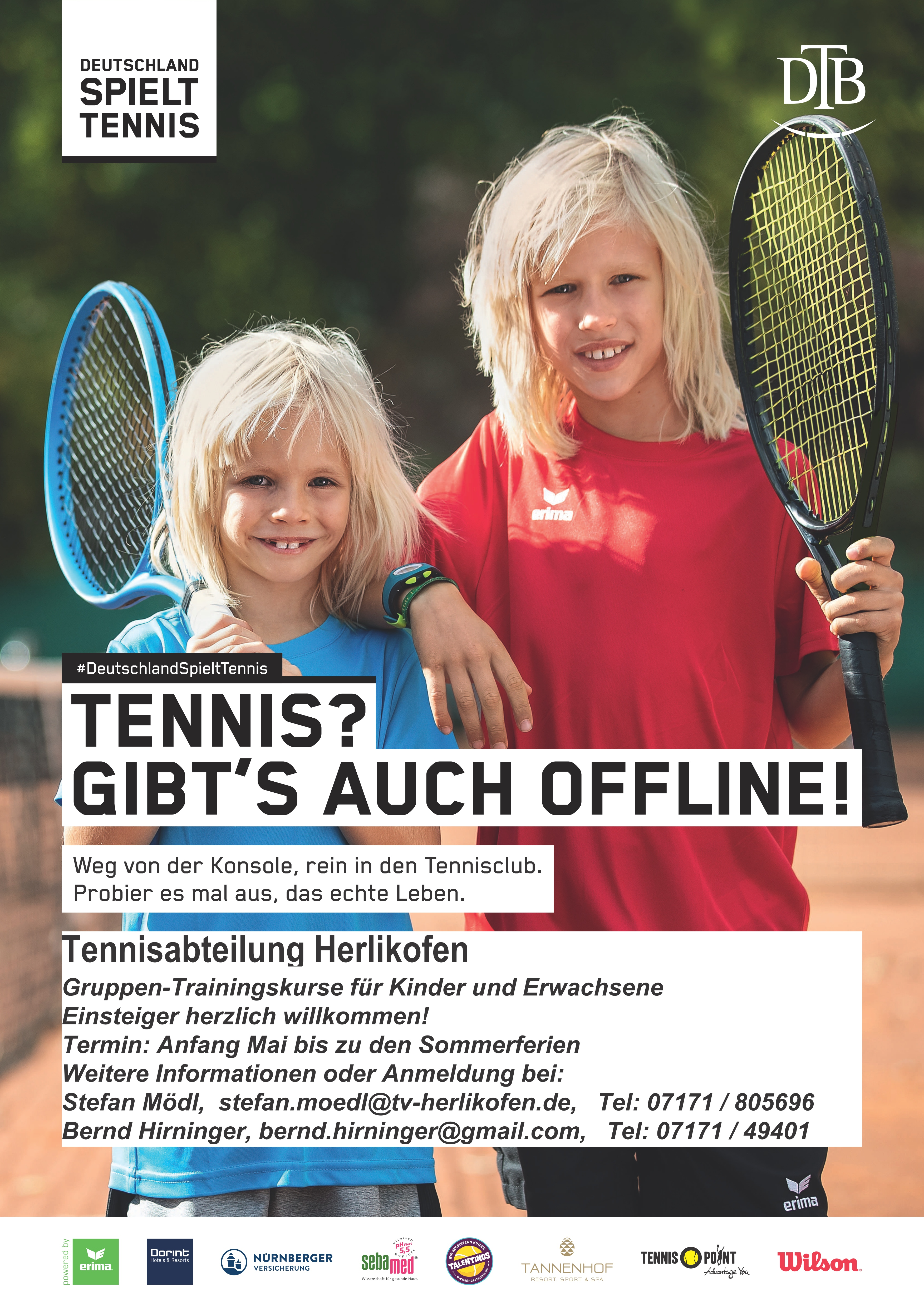Tennis Sommertraining 2019