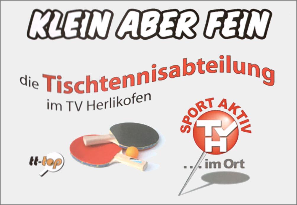 Klein aber fein – die Tischtennisabteilung beim TV Herlikofen (09.08.17) | Aktuelles | Turnverein Herlikofen 1886 e.V.